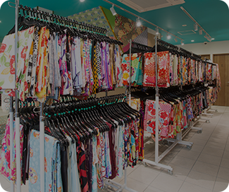 A total of 30,000 kimonos, with 1,000 kimonos on stock at all times at each store